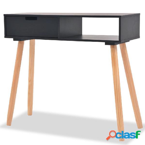 vidaXL Mesa consola de madera maciza de pino 80x30x72 cm