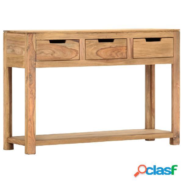 vidaXL Mesa consola de madera maciza de sheesham 110x35x75