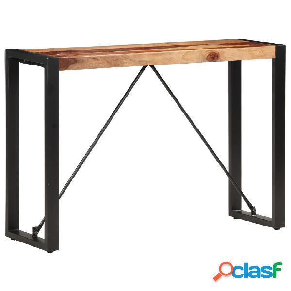 vidaXL Mesa consola de madera maciza de sheesham 110x35x76