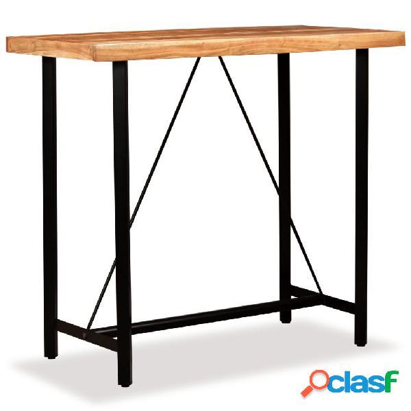 vidaXL Mesa de bar de madera maciza de acacia 120x60x107 cm