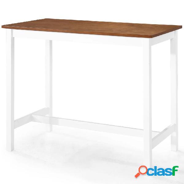 vidaXL Mesa de bar madera maciza 108x60x91 cm