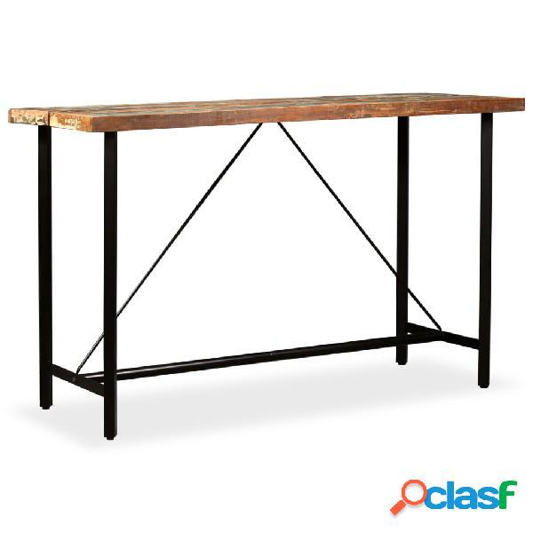 vidaXL Mesa de bar madera maciza reciclada 180x70x107 cm