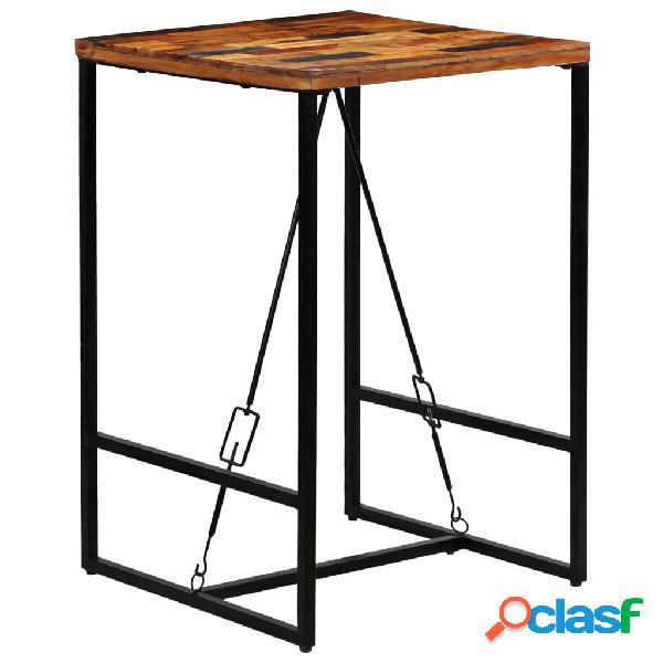 vidaXL Mesa de bar madera maciza reciclada 70x70x106 cm