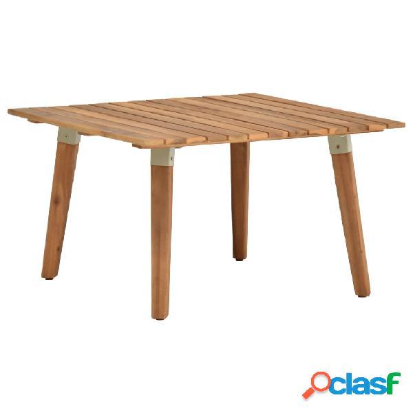vidaXL Mesa de centro de jardín madera maciza de acacia
