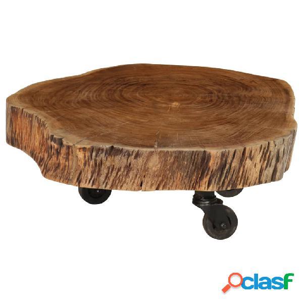 vidaXL Mesa de centro de madera de acacia maciza 60x55x25 cm