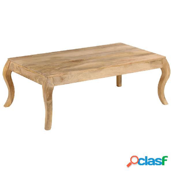vidaXL Mesa de centro de madera de mango maciza 116x66x41 cm