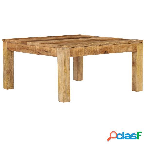 vidaXL Mesa de centro de madera de mango maciza 80x80x40 cm