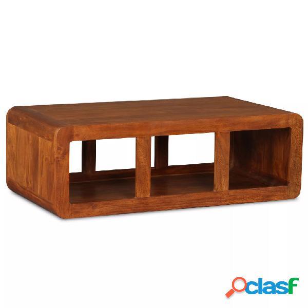 vidaXL Mesa de centro de madera maciza acabado de Sheesham