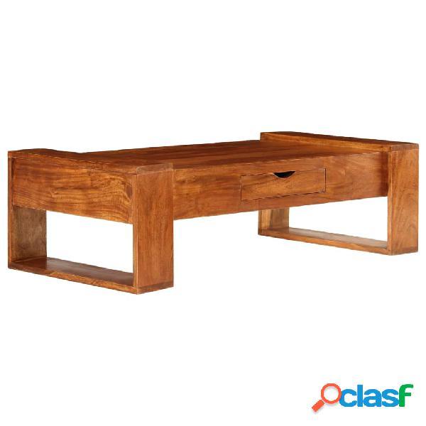 vidaXL Mesa de centro de madera maciza de acacia 100x50x30cm