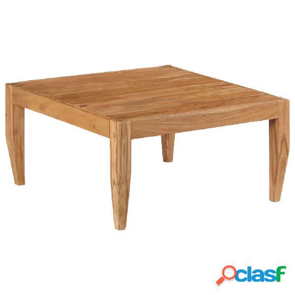 vidaXL Mesa de centro de madera maciza de acacia 80x80x41 cm