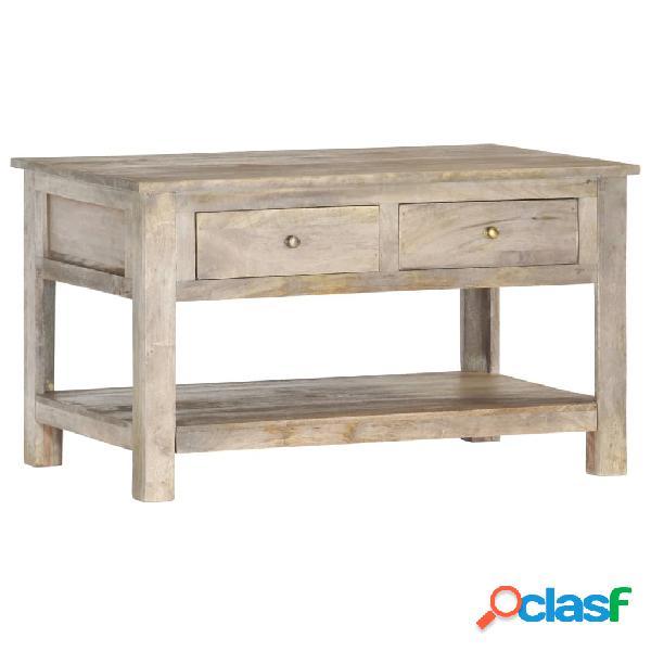 vidaXL Mesa de centro de madera maciza de mango 82x52x47 cm