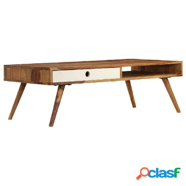 vidaXL Mesa de centro de madera maciza de sheesham 110x50x35