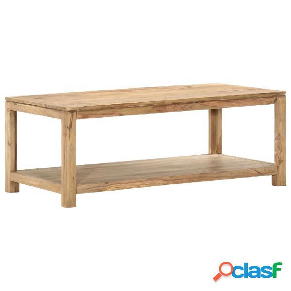 vidaXL Mesa de centro de madera maciza de sheesham 118x60x45