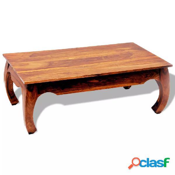 vidaXL Mesa de centro de madera maciza de sheesham 40 cm