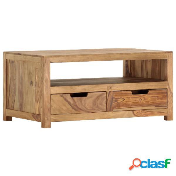 vidaXL Mesa de centro de madera maciza de sheesham 85x50x40