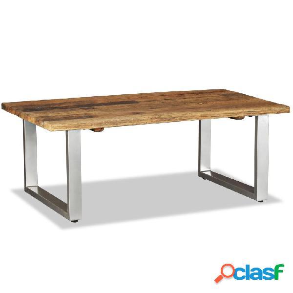 vidaXL Mesa de centro de madera maciza reciclada 100x60x38