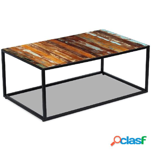 vidaXL Mesa de centro de madera maciza reciclada 100x60x40