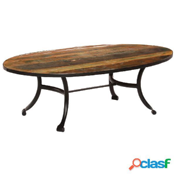vidaXL Mesa de centro de madera maciza reciclada 110x60x35