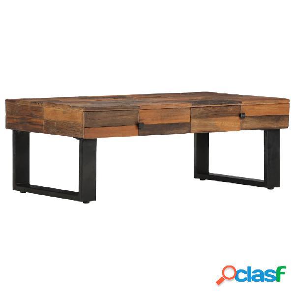 vidaXL Mesa de centro de madera maciza reciclada 110x60x40