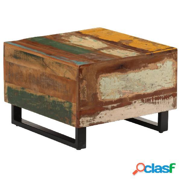 vidaXL Mesa de centro de madera maciza reciclada 50x50x35 cm