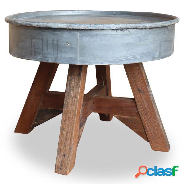 vidaXL Mesa de centro de madera maciza reciclada 60x45 cm