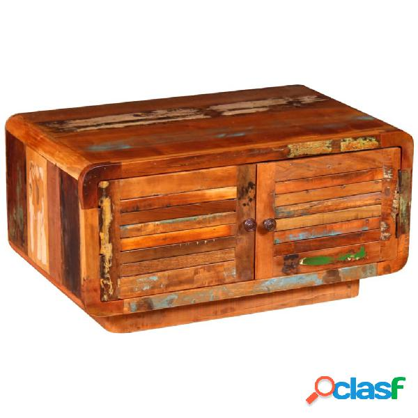 vidaXL Mesa de centro de madera maciza reciclada 80x50x40 cm