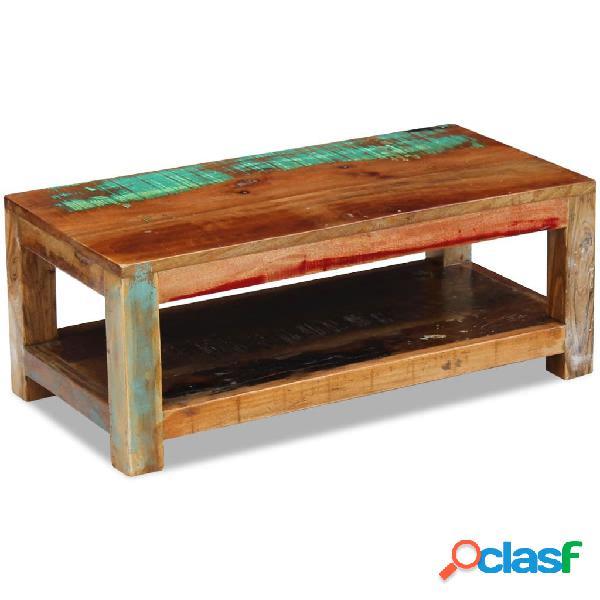 vidaXL Mesa de centro de madera maciza reciclada 90x45x35 cm