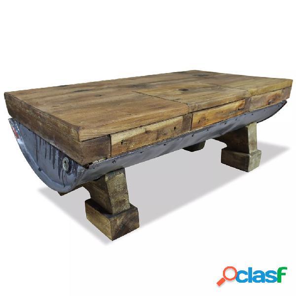 vidaXL Mesa de centro de madera maciza reciclada 90x50x35 cm
