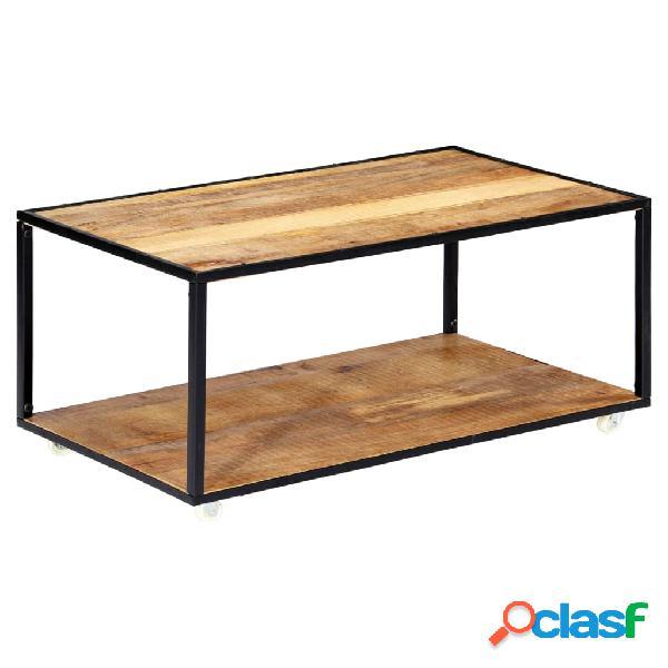 vidaXL Mesa de centro de madera maciza reciclada 90x50x40 cm