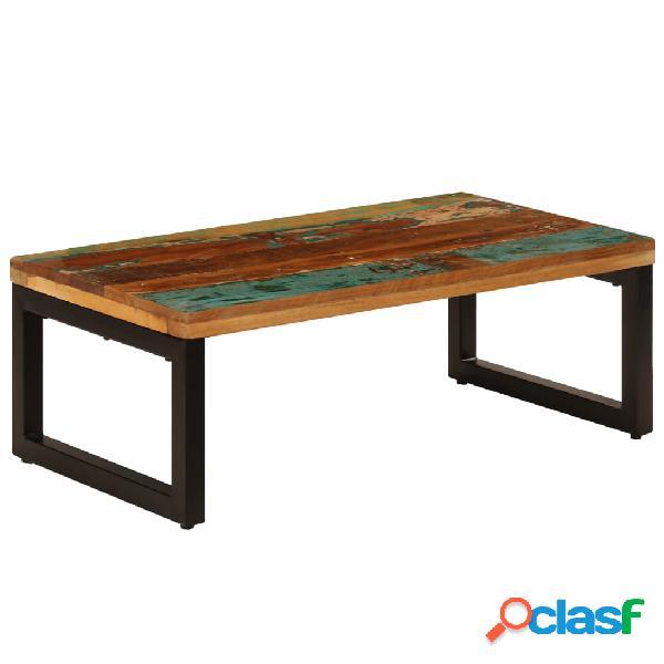 vidaXL Mesa de centro de madera maciza reciclada y acero