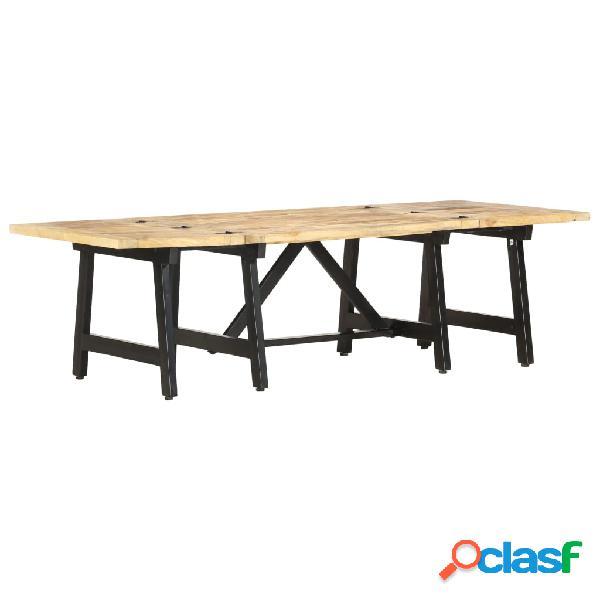 vidaXL Mesa de centro extensible de madera maciza de mango