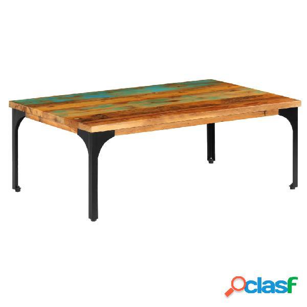 vidaXL Mesa de centro madera maciza reciclada 100x60x35 cm