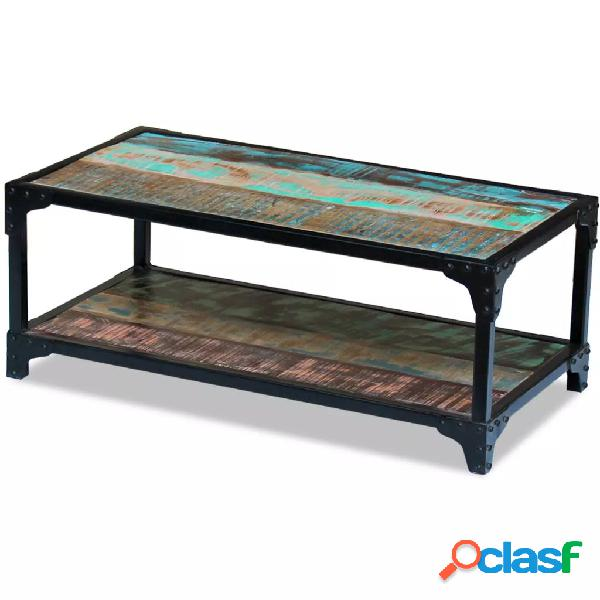 vidaXL Mesa de centro madera maciza reciclada