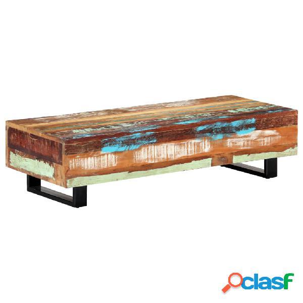 vidaXL Mesa de centro madera maciza reciclada y acero