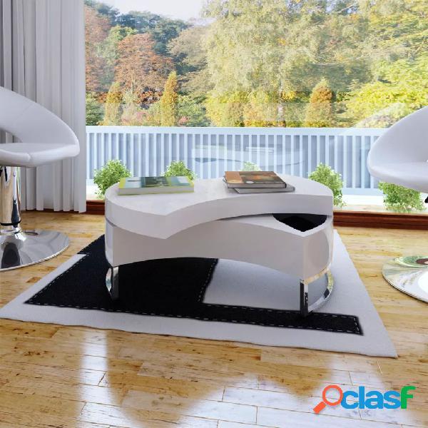 vidaXL Mesa de centro moderna y ajustable negra con brillo