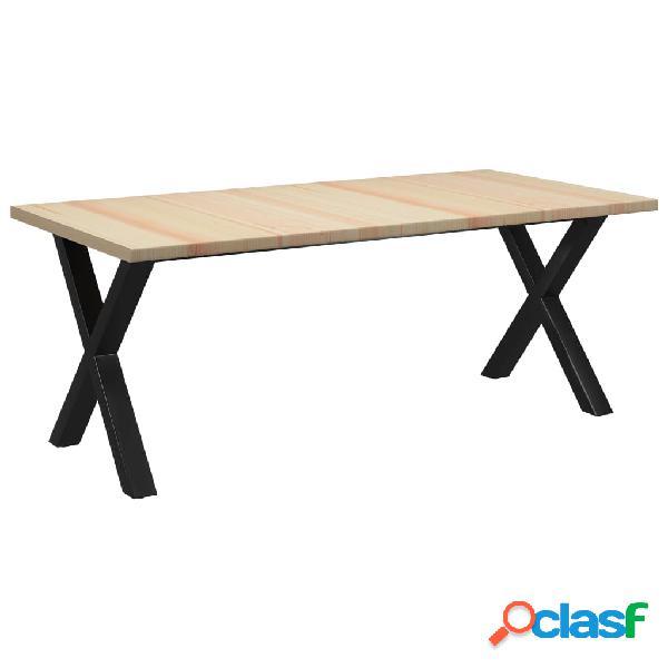 vidaXL Mesa de comedor de madera de pino 200x100x76 cm