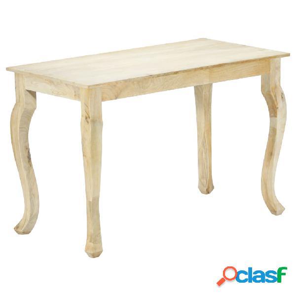 vidaXL Mesa de comedor de madera maciza de mango 118x60x77