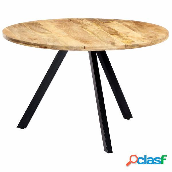 vidaXL Mesa de comedor de madera maciza de mango 120x76 cm