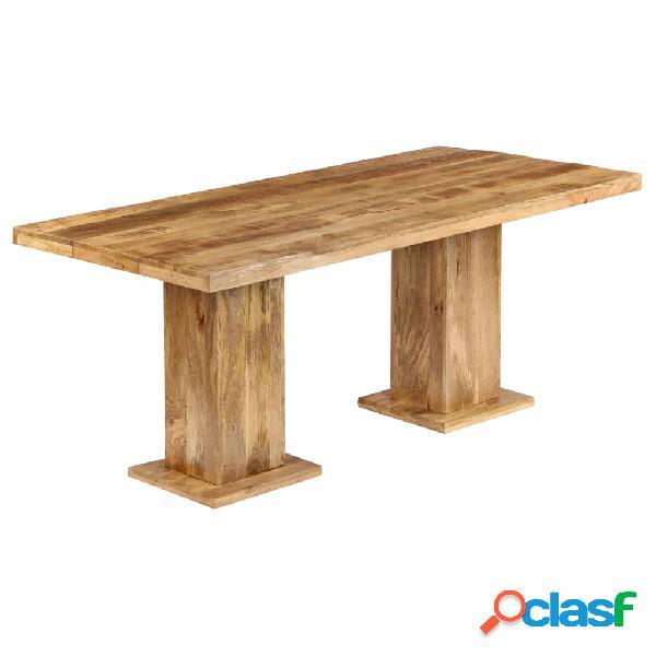vidaXL Mesa de comedor de madera maciza de mango 178x90x77
