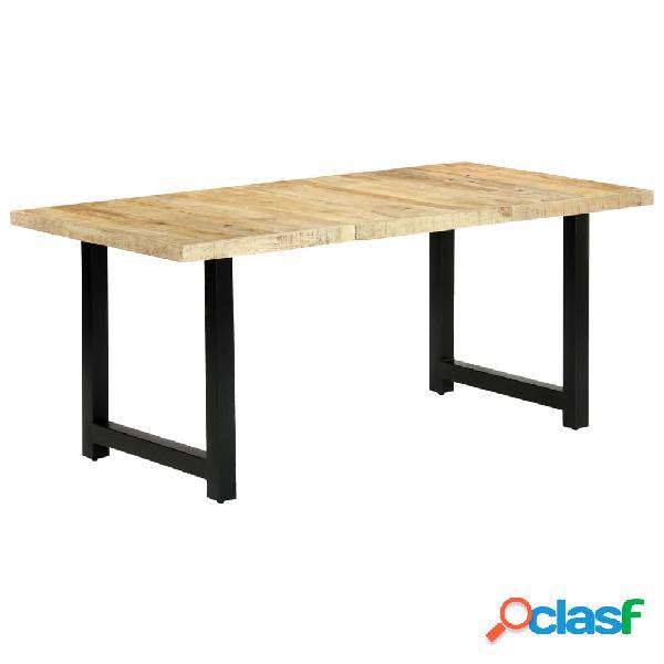 vidaXL Mesa de comedor de madera maciza de mango 180x90x76