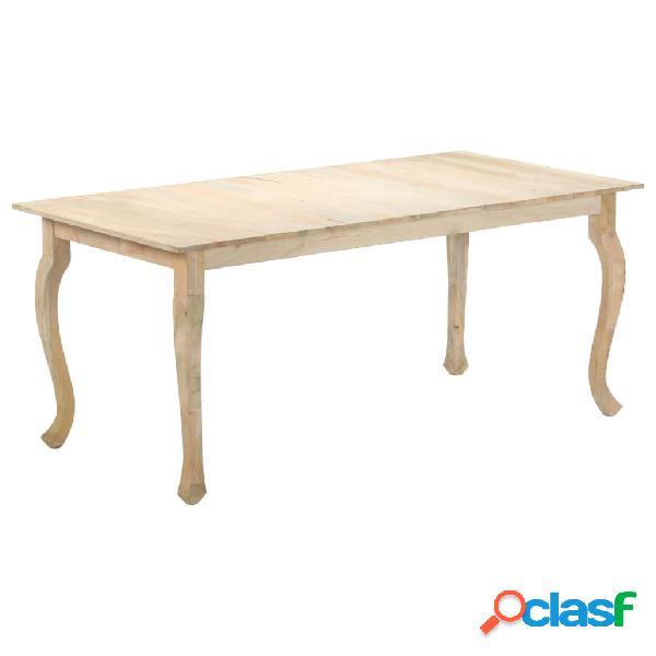 vidaXL Mesa de comedor de madera maciza de mango 180x90x77