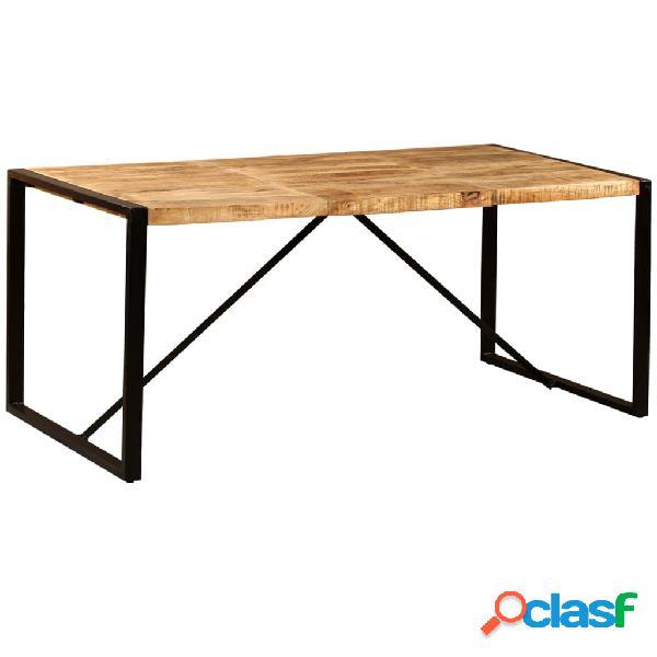 vidaXL Mesa de comedor de madera maciza de mango rugosa 180