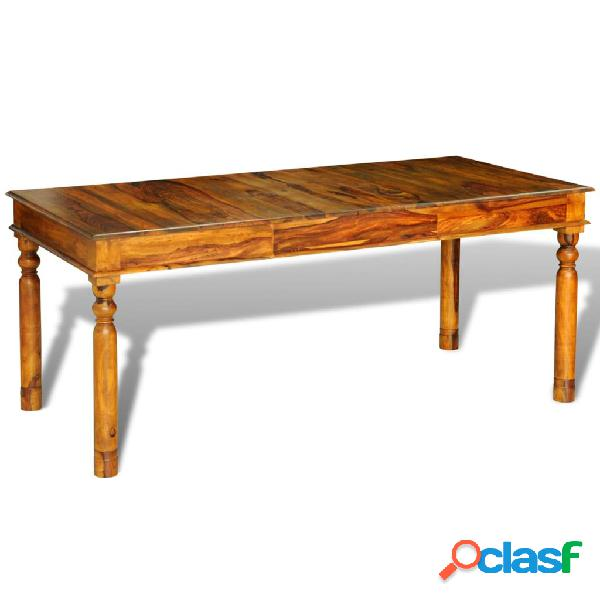 vidaXL Mesa de comedor de madera maciza de sheesham