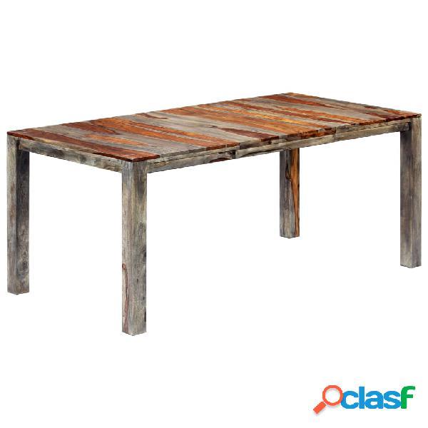 vidaXL Mesa de comedor de madera maciza de sheesham gris