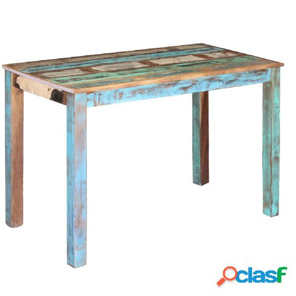 vidaXL Mesa de comedor de madera maciza reciclada 115x60x76