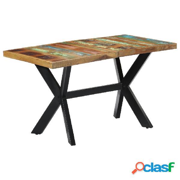 vidaXL Mesa de comedor de madera maciza reciclada 140x70x75