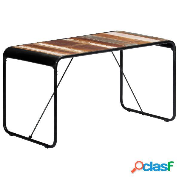 vidaXL Mesa de comedor de madera maciza reciclada 140x70x76