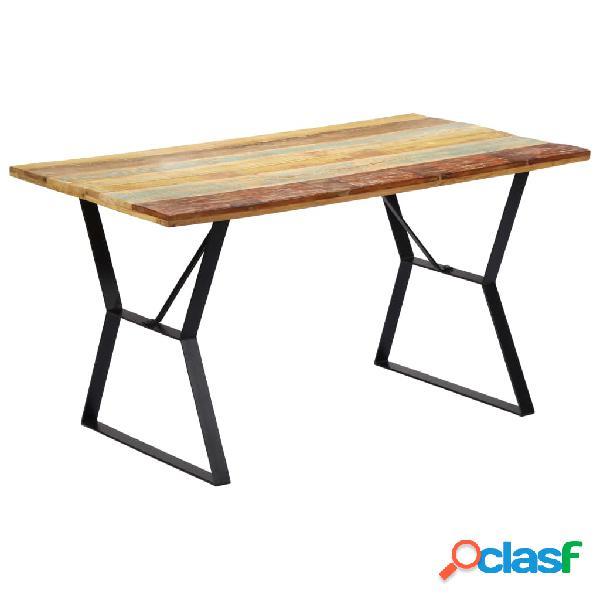 vidaXL Mesa de comedor de madera maciza reciclada 140x80x76