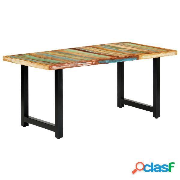 vidaXL Mesa de comedor de madera maciza reciclada 180x90x76