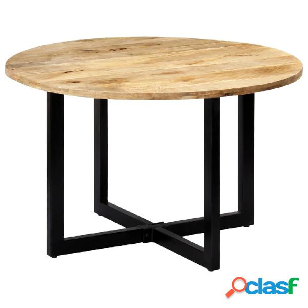 vidaXL Mesa de comedor madera maciza de mango 120x73 cm